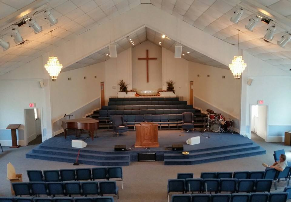 View from balcony - Temple Baptist - Milan, TN