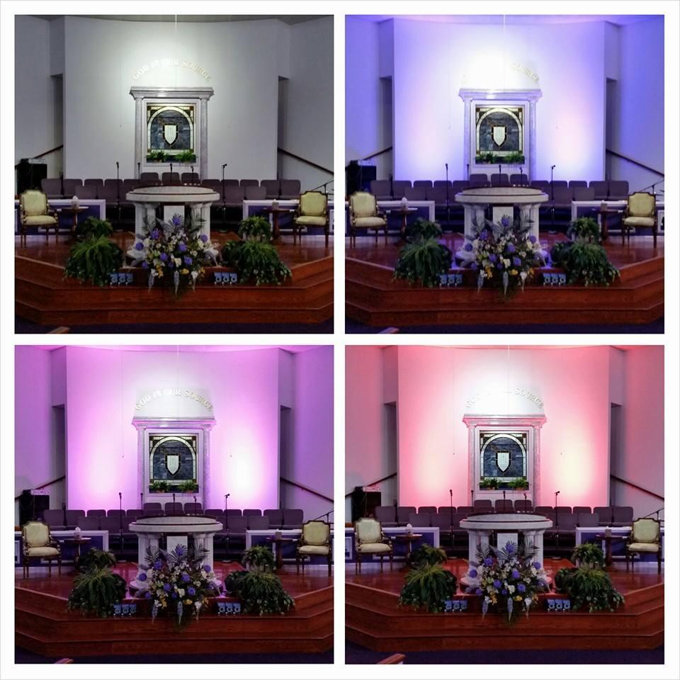 LED wall wash lighting - Faith Deliverance