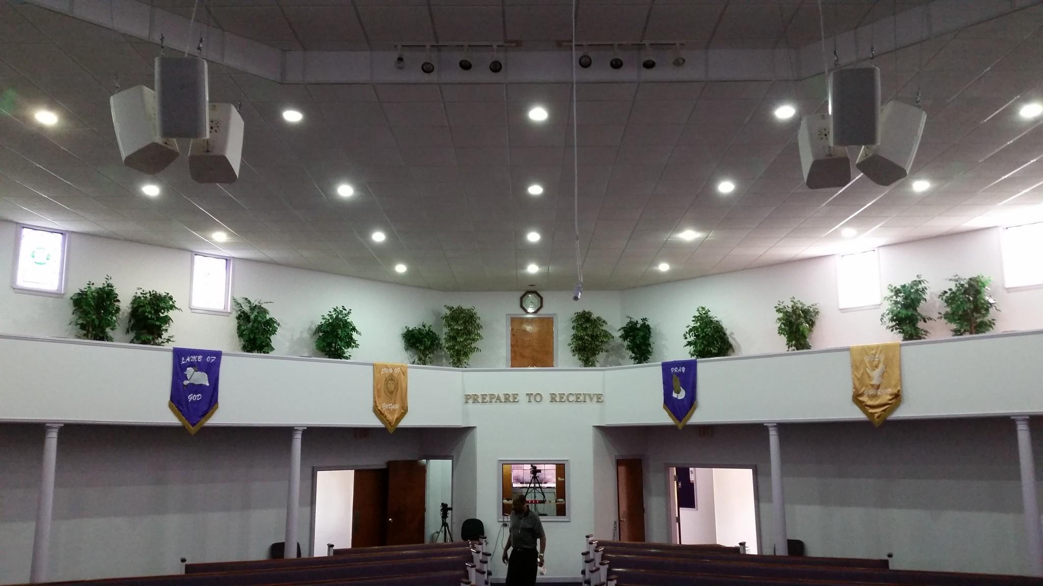View from choir at Faith Deliverance Church.