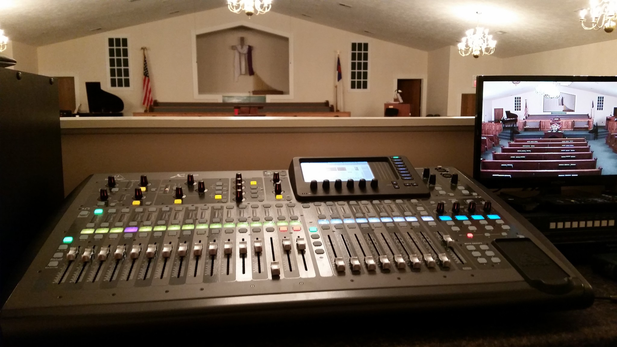 Control Booth - Mercer Baptist Church