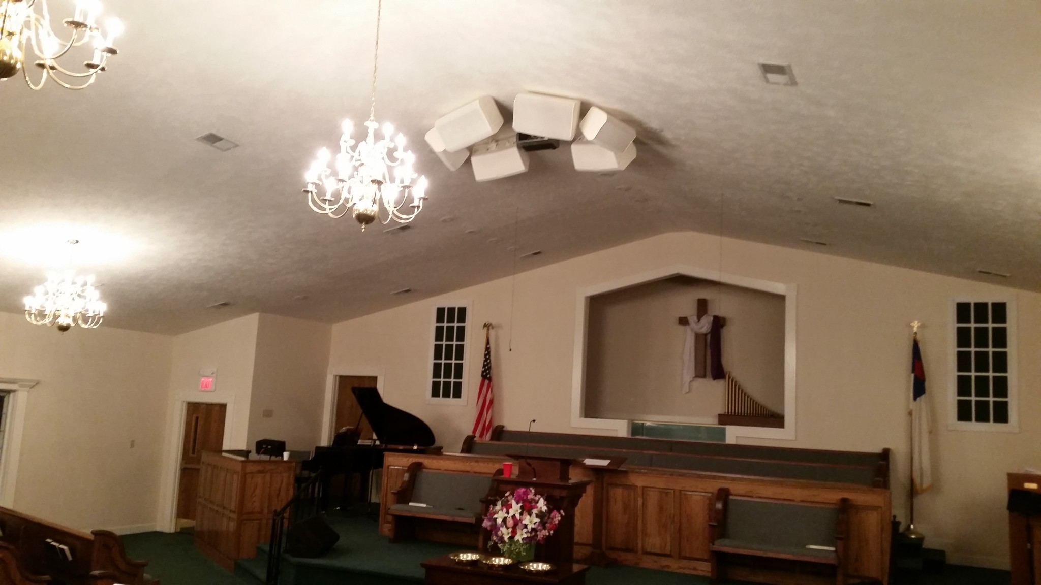 View of stage - Mercer Baptist Church